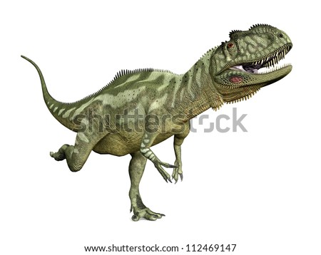 Dinosaur Yangchuanosaurus Computer generated 3D illustration
