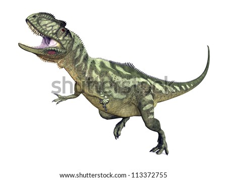 Dinosaur Yangchuanosaurus Computer generated 3D illustration