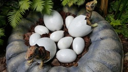 Dinosaurs hatching out