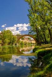 Diocleziano's bridge, a Roman bridge, Marche, Italy.