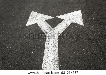 Direction arrow showing up left right.