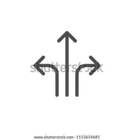 Direction arrows icon isolated on white