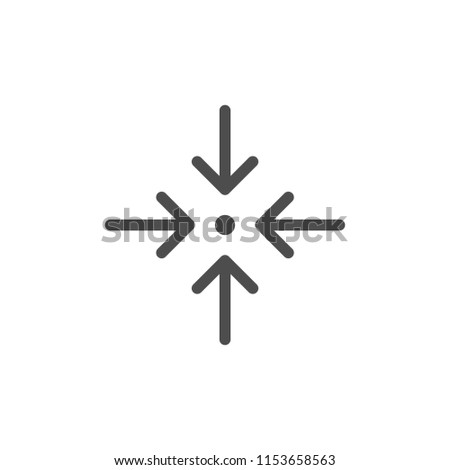 Direction arrows line icon isolated on white