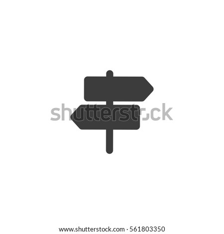 direction sign icon. sign design