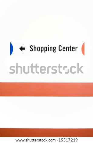 Direction sign in shopping mall