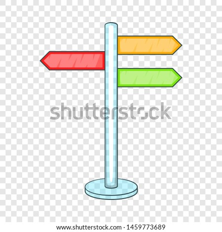 Direction signs icon. Cartoon illustration of direction signs icon for web