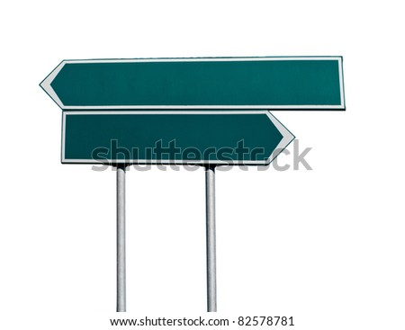 Directional arrow  blank isolated