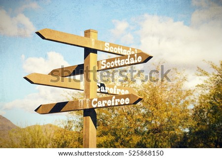 directional sign in cave creek  ...