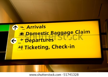 Directional sign inside Terminal 4, Kennedy airport
