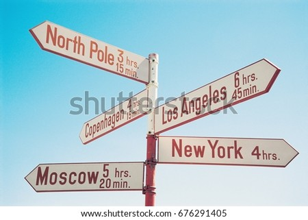 Directional Signs #676291405