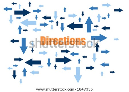 Directions - Blue Arrows In Different Sizes Pointing In Different Directions