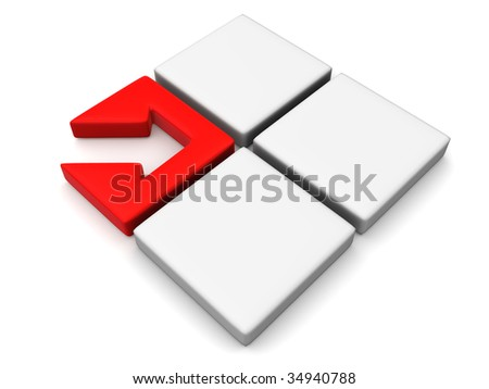 Directions. 3d - stock photo