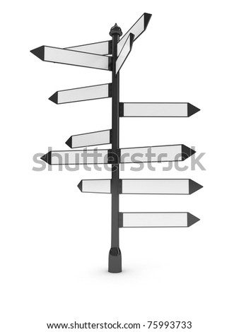 Directions signs over white background. computer generated image