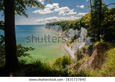 Directly at the famous chalk cliff on Rügen National Park