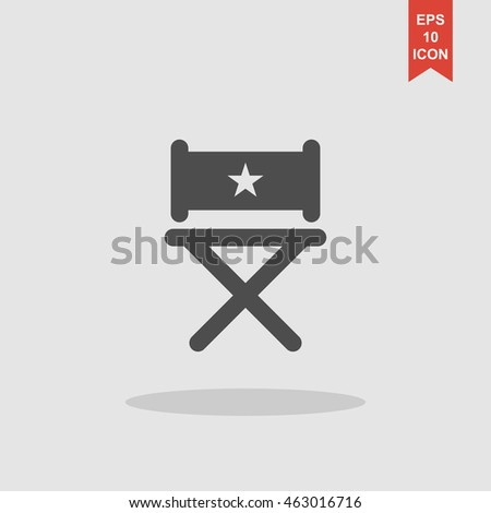 director chair icon. Flat design style
