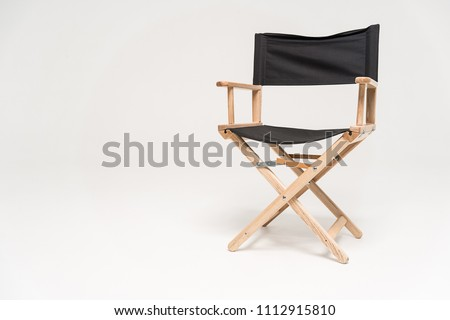 Director chair isolated on white background #1112915810