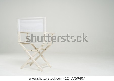 Director chair isolated on white background #1247759407