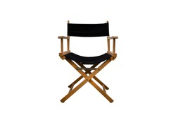 Director chair isolated on white background - clipping paths.