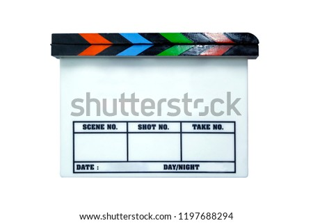 Director Clapping Wooden Board - Shutterstock ID 1197688294