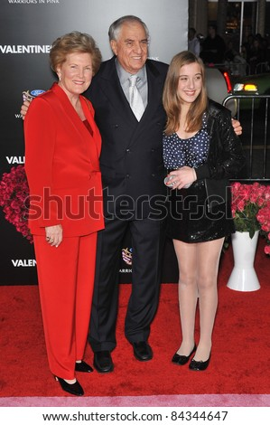 """Director Garry Marshall & wife & granddaughter at the world premiere of """"Valentine's Day"""" at Grauman's Chinese Theatre, Hollywood. 02-08-10  Los Angeles, CA By: Paul Smith / Featureflash"""