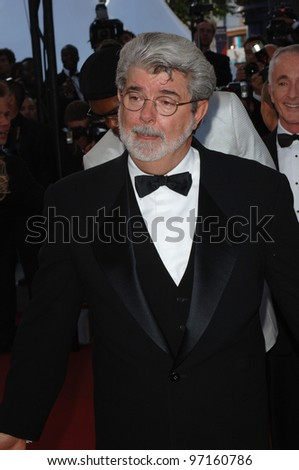 Director GEORGE LUCAS at the gala premiere of his movie Star Wars - Revenge of the Sith - at the 58th Annual Film Festival de Cannes. May 15, 2005 Cannes, France.  2005 Paul Smith / Featureflash