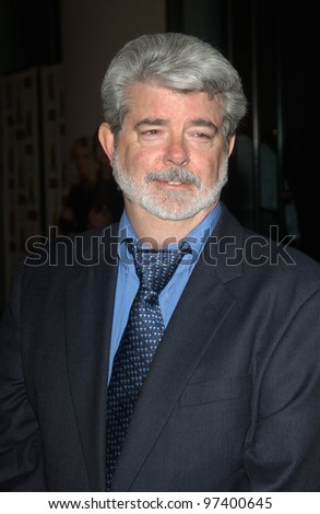 Director GEORGE LUCAS at the 2003 Hollywood Awards at the Beverly Hills Hilton. Oct 20, 2003  Paul Smith / Featureflash