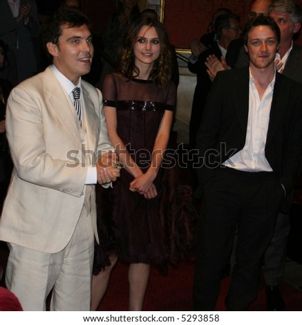 Director:Joe Wright Keira Knightley & James MacAvoy at the north american premier of Atonement at the Toronto Film Festival