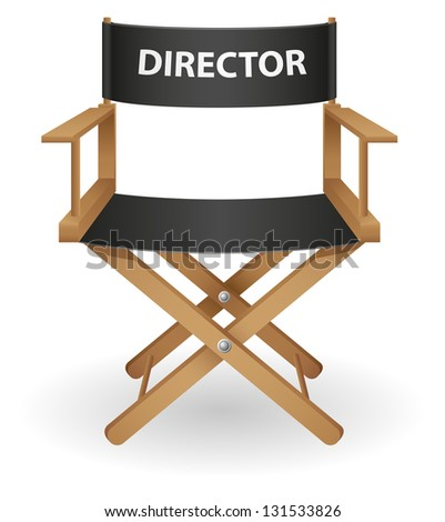 director movie chair illustration isolated on white background