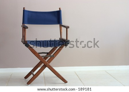 Director\'s Chair with negative space for copy