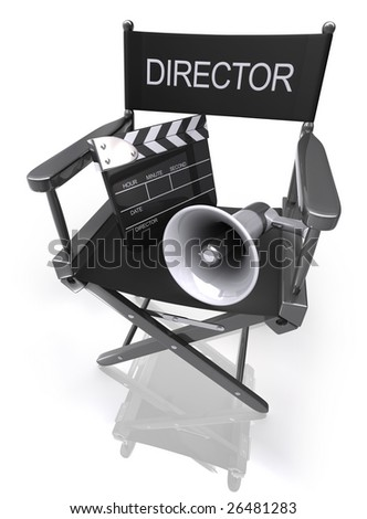 Directors Chair. Concept of Industry cinematographic.