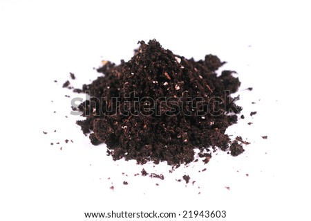 dirt isolated on white