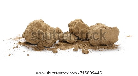 Dirt pile isolated on white background #715809445