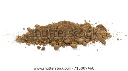 Dirt pile isolated on white background #715809460