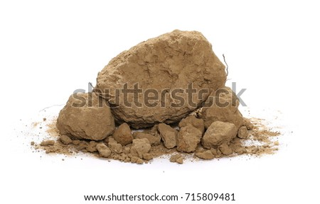 Dirt pile isolated on white background #715809481