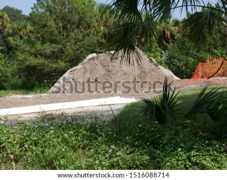Dirt Piles For Excavation on Lot #1516088714