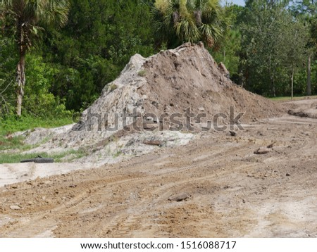 Dirt Piles For Excavation on Lot #1516088717