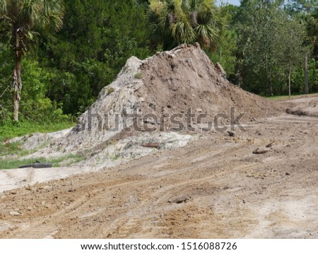 Dirt Piles For Excavation on Lot #1516088726