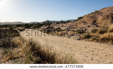 Dirt road inside Vasquez Rocks Natural Area #677571808