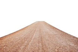 Dirt road isolated on white background. This has clipping path.