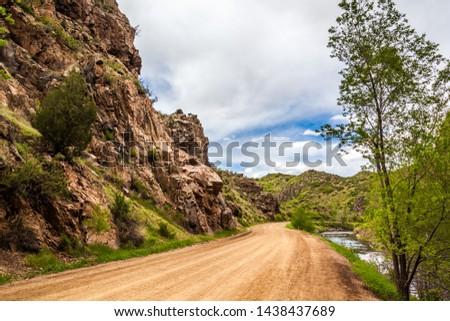 Dirt Road Through Waterton Canyon in Colorado