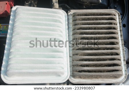 dirty air clean filter for car, automotive spare part