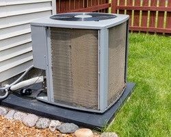 Dirty  air conditioning unit before and after cleaning. Concept of home air conditioner repair, service, cleaning and maintenance