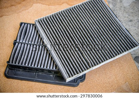 Dirty air filter and Filter asm-pass compt for car, automotive spare part