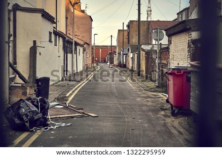 dirty alley in city Stockfoto ©
