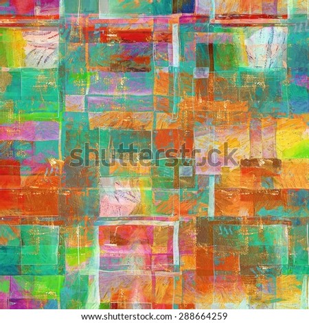 Dirty and weathered old textured background. With different color patterns: yellow (beige); green; blue; purple (violet); red (orange)