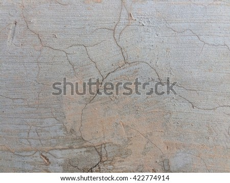 Dirty cement crack wall texture background #422774914