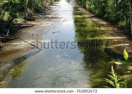 Shutterstock Dirty channel with brown water