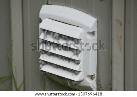 Dirty Dryer Vent Close Up Photo stock ©