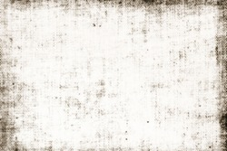 Dirty edges obsolete ragged worn faded vintage aged canvas grungy pattern background texture