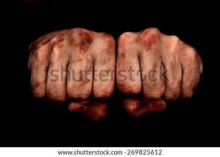 Dirty Fists ストックフォト ©